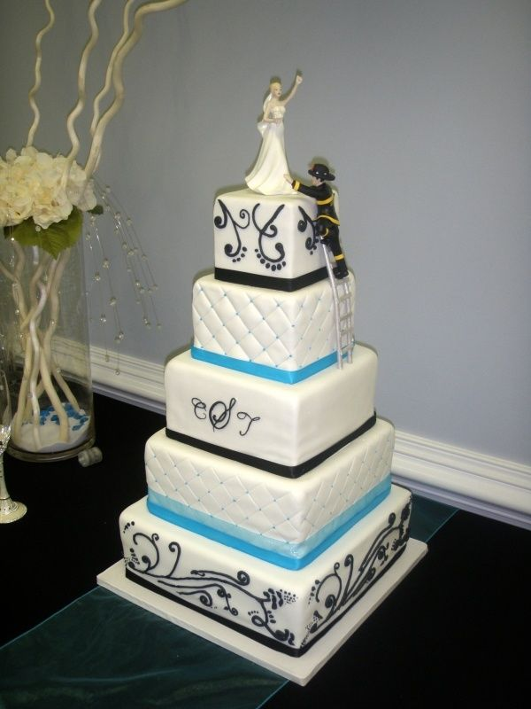 17 Best ideas about Firefighter Wedding Cakes on Pinterest