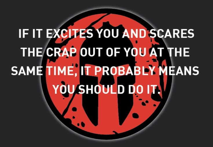 it does excite and scare the crap out of me, so it must be right. spartan training starts today
