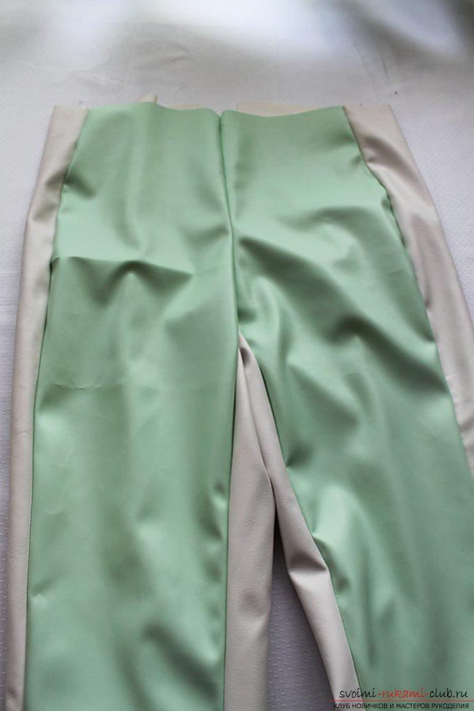 Вы хотите сшить брюки своими руками? Мастер-класс подробно описывает пошив брюк женских и декор брюк брызгами красок.. Фото №7