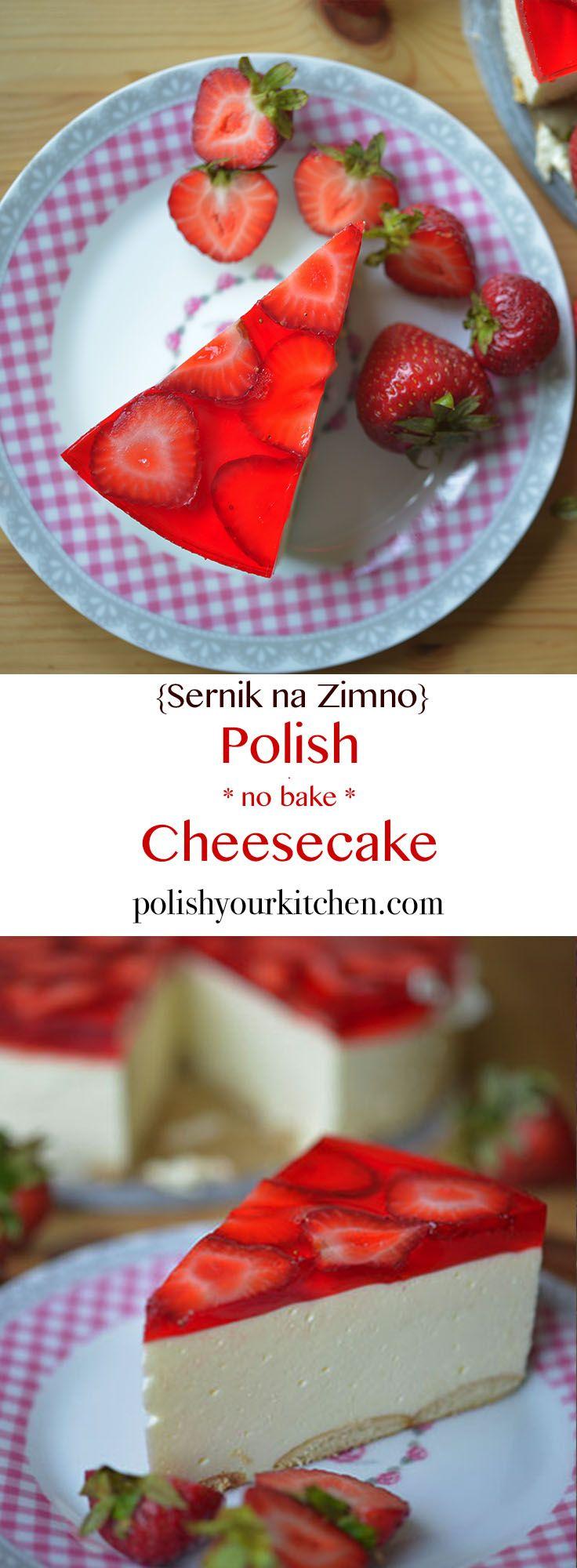 Easy no bake cheesecake, Polish cheesecake called sernik na zimno requires no baking skills. It's a delicious summer dessert that everyone loves.
