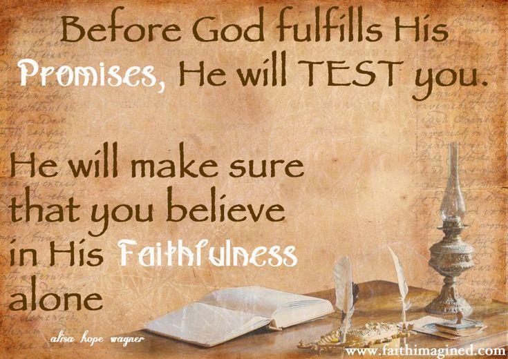 God's TEST of faithfulness