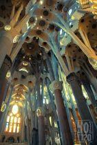 The Columns of Sagrada Familia, Barcelona - Spain