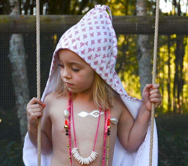 Bindi Hooded Towel. www.wildandbliss.com