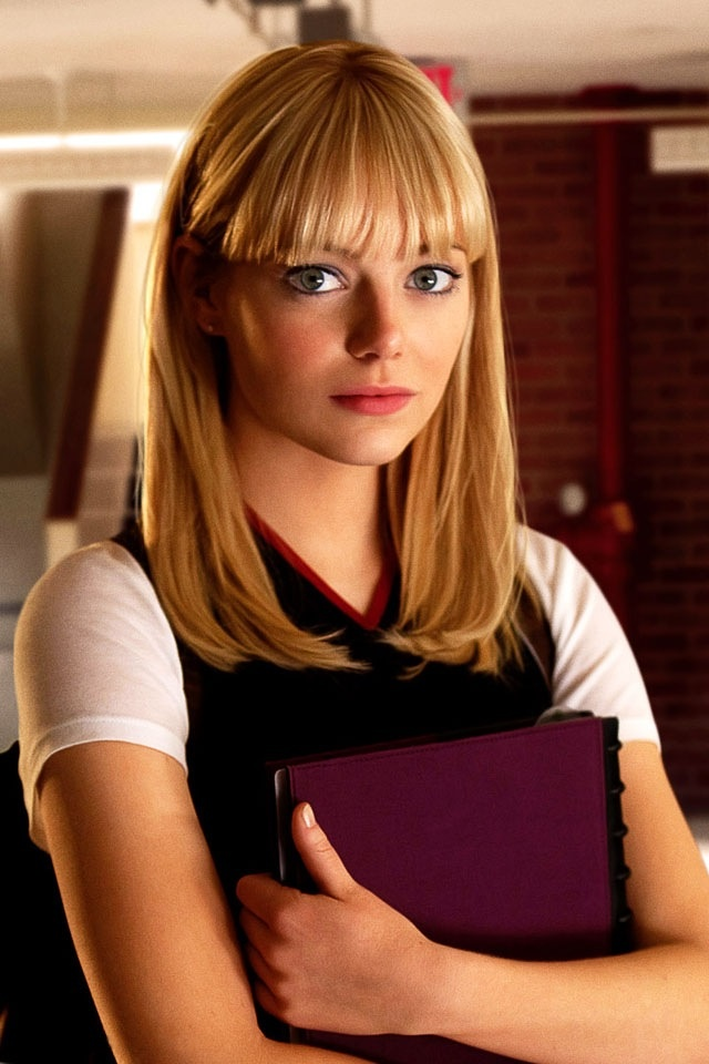 Easy A, Superbad, The Amazing-Spiderman, Crazy Stupid Love- Emma Stone
