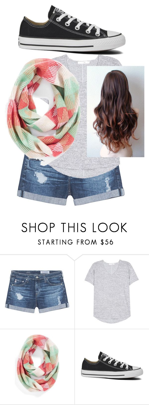 """""""""""Nice"""" School Outfit"""" by chloefaust on Polyvore featuring AG Adriano Goldschmied, rag & bone, Made of Me and Converse"""