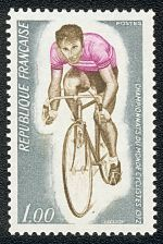 Timbre sur les championnats du monde cyclistes, 1972, France