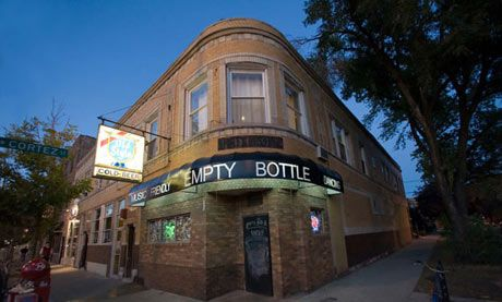 Empty Bottle - A cornerstone of Chicago's indie scene for more than two decades, the Empty Bottle (in the Ukrainian Village area) is an intimate hall that has hosted the Strokes, Animal Collective, Modest Mouse and other superstars in the making. The stage and bar are in the back room; the front room has a pool table, pinball machines and a photo booth. • 1035 North Western Avenue, +1 773 276 3600, emptybottle.com