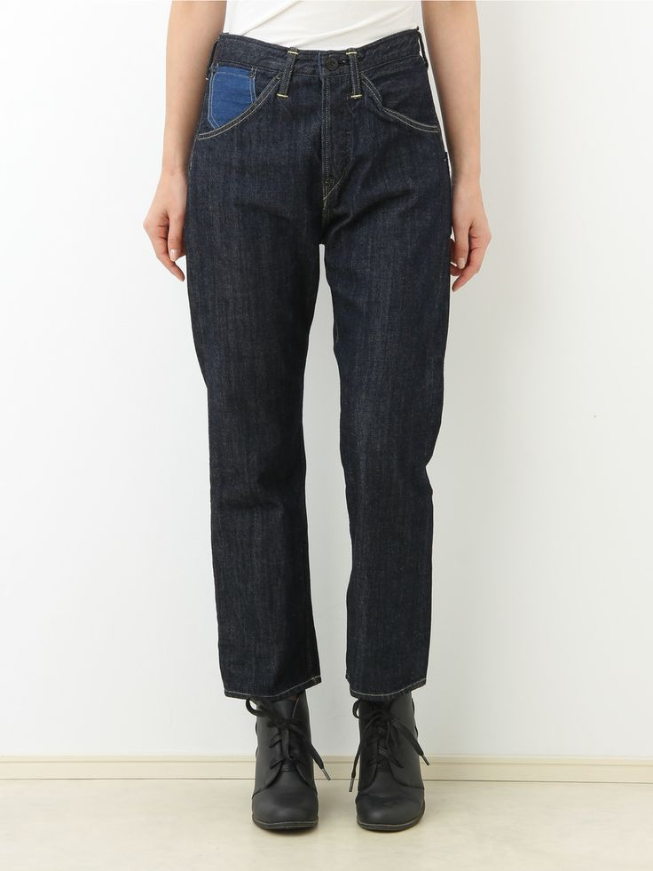 CANTON × Jocomomola denim pants   Jocomomola de Sybilla   Outlet Mail order (Outlet mail order)   【Official】 Itokin outlet