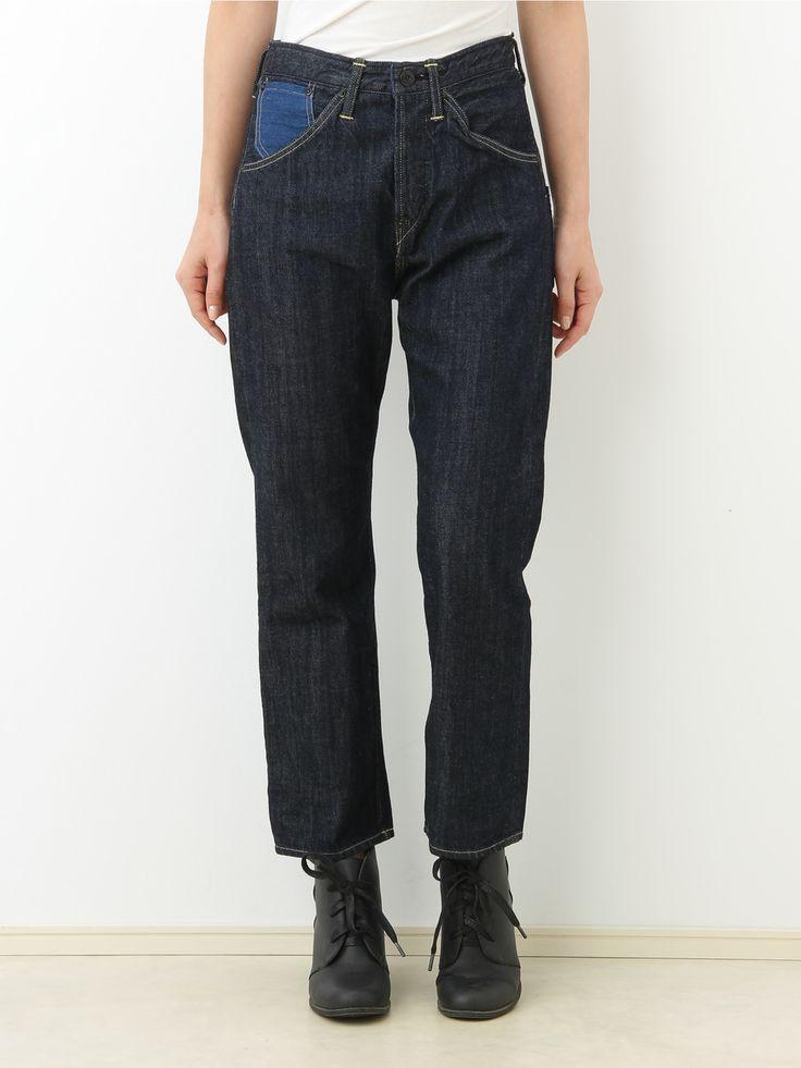 CANTON × Jocomomola denim pants | Jocomomola de Sybilla | Outlet Mail order (Outlet mail order) | 【Official】 Itokin outlet