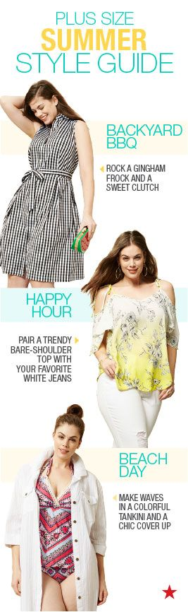 Whatever activities are filling up your packed social calender, there's a super cute look with your name on it! Summer style is all about breezy fabrics, soft silhouttes and, of course, showing off the latest trends. Find a fashionable outfit for your next event at Macy's plus size shop.