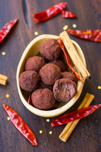 Chocolate Chile Coconut Milk Truffles {Gluten-Free, Vegan}