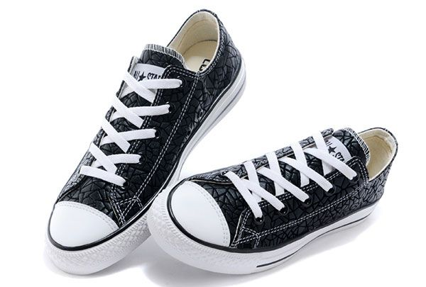 c864b12cef1b Converse Geometric Black Leather Chuck Taylor All Star Low Tops Shoes   converse  shoes