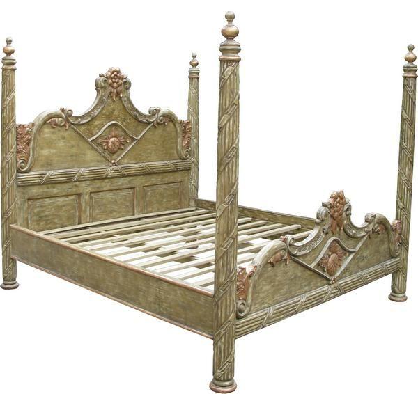 45 best master bed images on pinterest bedroom ideas for Short four poster bed