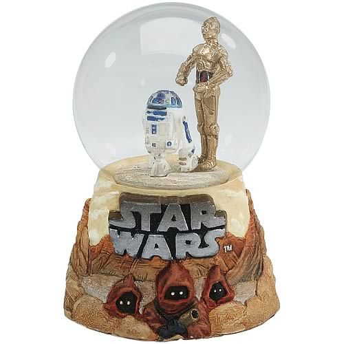 Star Wars C-3PO & R2-D2 Water Globe - Encore - Star Wars - Snow Globes at Entertainment Earth Item Archive