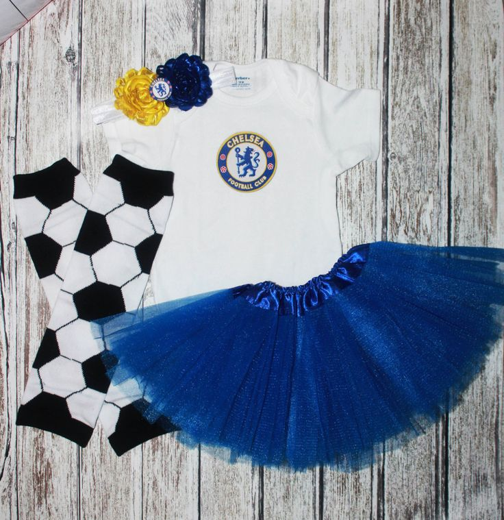 Chelsea FC Soccer Game day outfit, baby girl, legwarmers, tutu set, Chelsea Football Club , soccer leg warmers, baby shower gift, royal blue by Thehairbowstorenmore on Etsy https://www.etsy.com/listing/386938108/chelsea-fc-soccer-game-day-outfit-baby