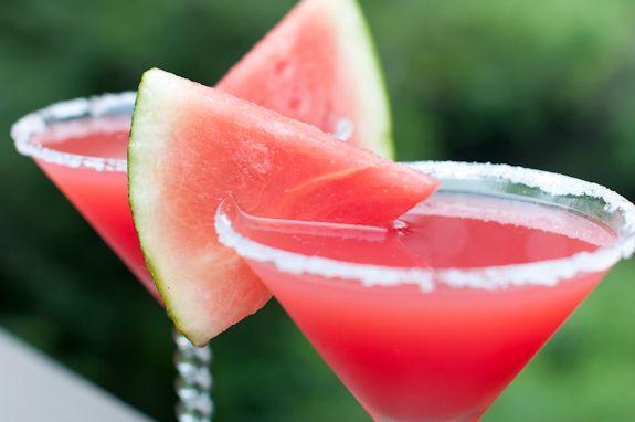 Watermelon Martini. oh yum.