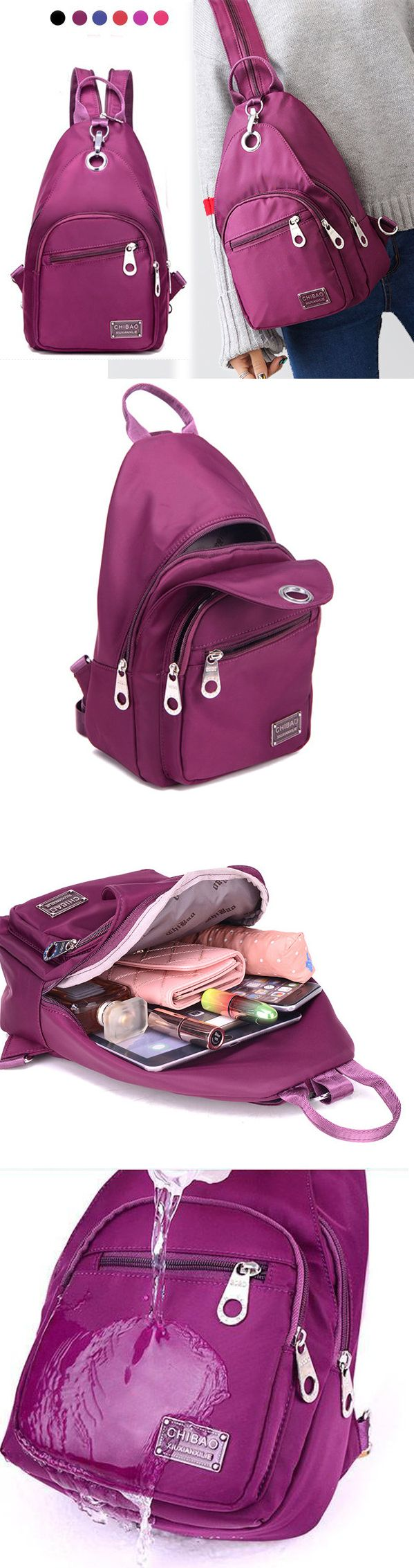 US$17.89 Six Colors Women Nylon Chest Bag Upgrade High-End Daily Crossbody Bag Waterproof Shoulder Bag