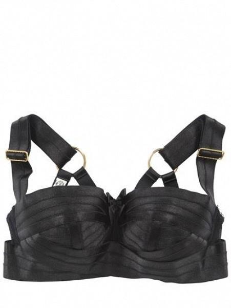 Zipped String Spandex Bra Underwear by Bordelle