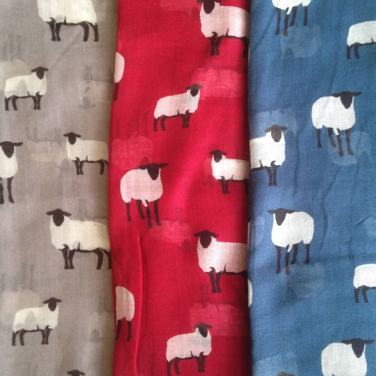 sheep print scarf by french grey interiors | notonthehighstreet.com