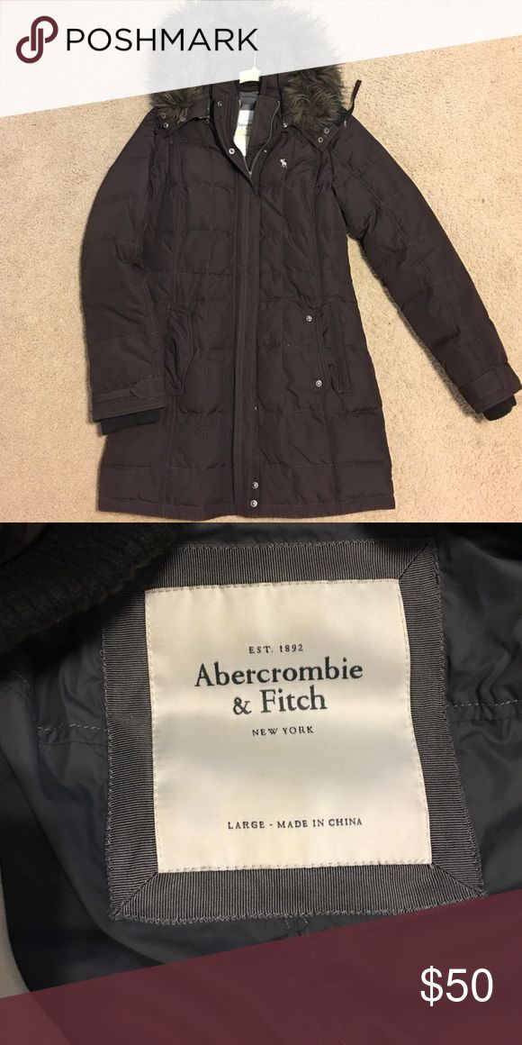 Abercrombie & Fitch parka style jacket A&F parka style jacket with fur lined hood.wore once. Excellent condition. Abercrombie & Fitch Jackets & Coats Puffers