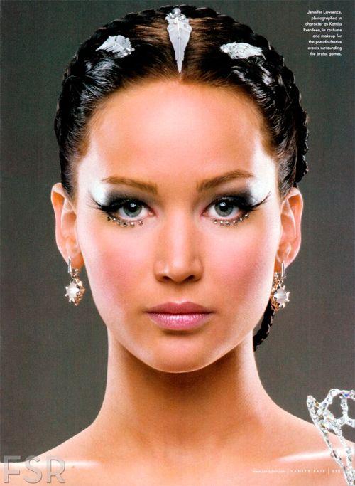 Jennifer Lawrence, as Katniss Everdeen, in Vanity Fair magazine (Oct 2013)