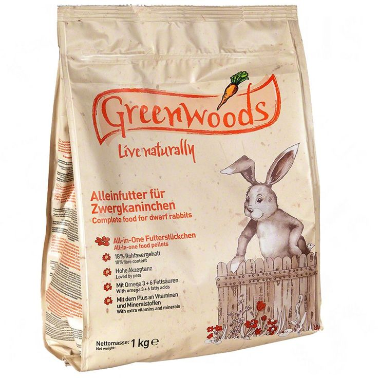 Animalerie  Greenwoods pour lapin nain  3 kg