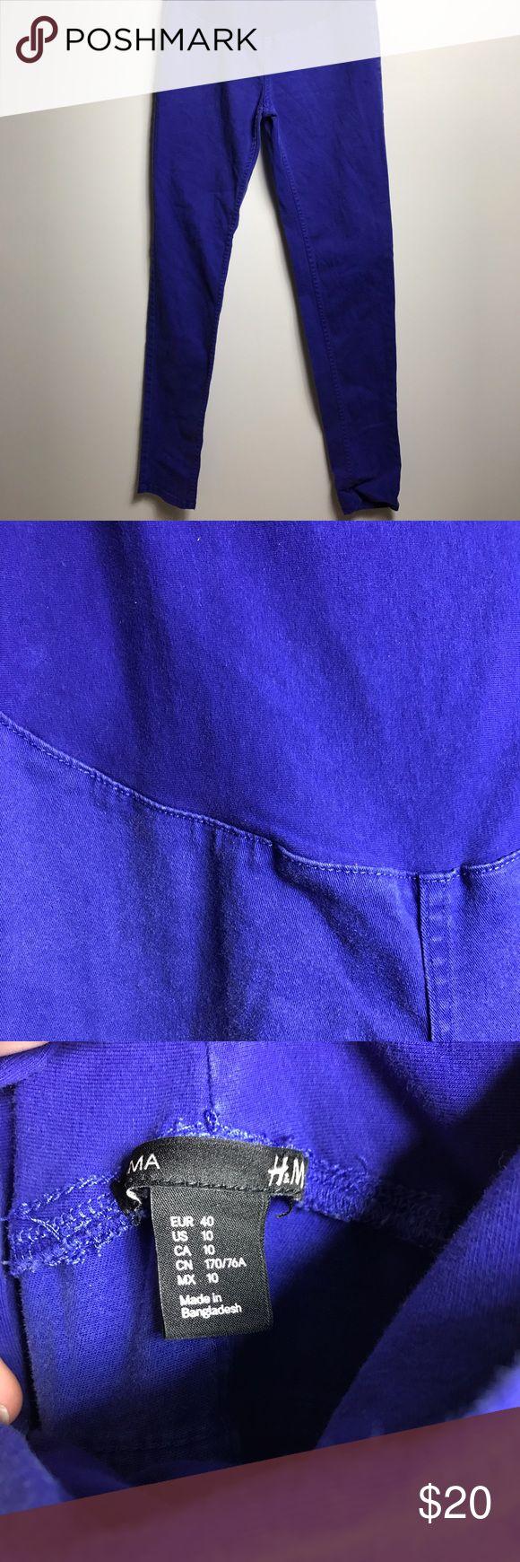 H&M Royal Blue Maternity Skinny Jeans Size 10 Full panel maternity skinny jeans from H&M. No wear or tear. H&M Jeans Skinny