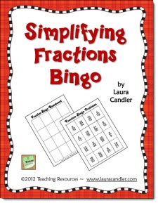Free! Simplifying Fractions Bingo game from Laura Candler's Teaching ...