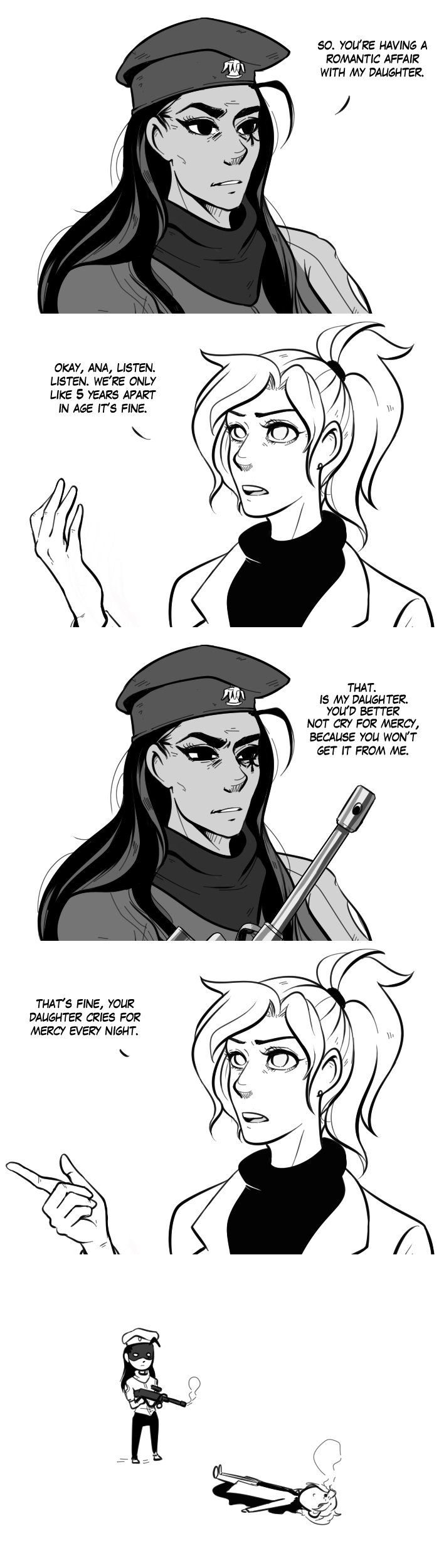 Overwatch- Ana and Mercy comic.