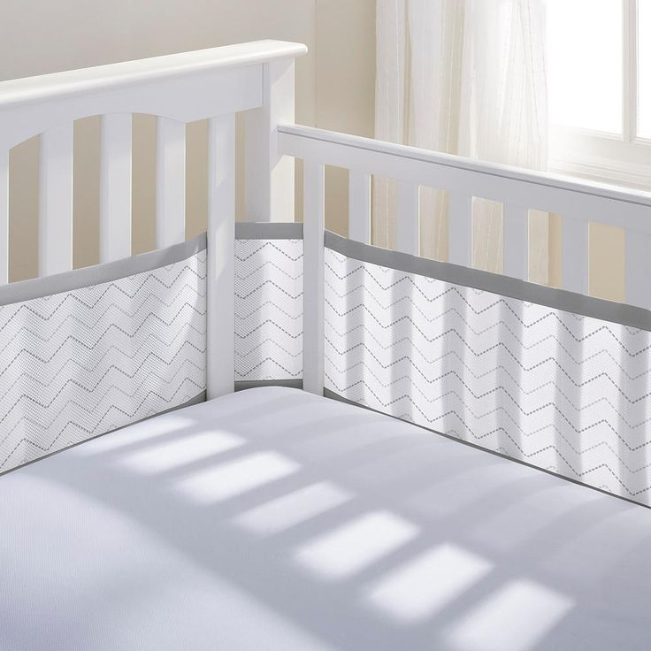 """The BreathableBaby(®) Breathable® Mesh Crib Liner is """"Safer than a traditional bumper™"""".  Our A.C.T (Air Channel Technology) provides maximum airflow around the crib.  The soft, comfy and breathable mesh helps to protect baby from bumps and bruises while ensuring complete air flow.  It also helps to keep arms and legs from getting stuck between crib slats..  The extra long, full wrap-around design covers all 4 sides of the crib.  This product is hypallergenic and m..."""