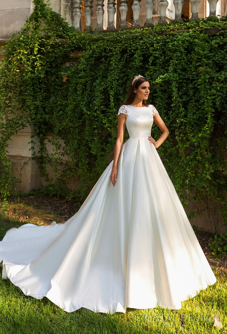 indie wedding dress classic wedding dress Beautiful Wedding Dresses from the Crystal Design Collection Sevilla Bridal Campaign