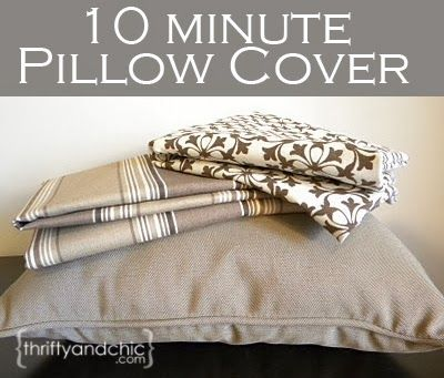 Sew a pillow cover in 10 minutes using this technique! Well done to Kirsten Barrett for this quick and simple cushion cover.