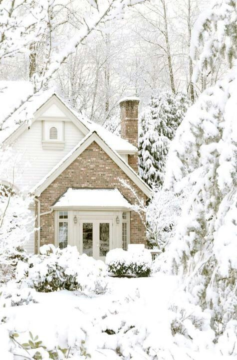 Good Evening ladies, thank you for the great winter green pins today. Tonight and Saturday, let's pin A WINTER WHITE COTTAGE. Enjoy!