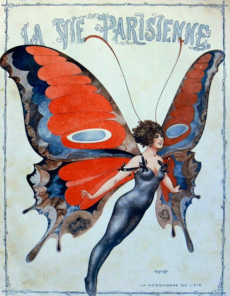 Cheri Herouard Cover Art For La Vie Parisienne May 1917