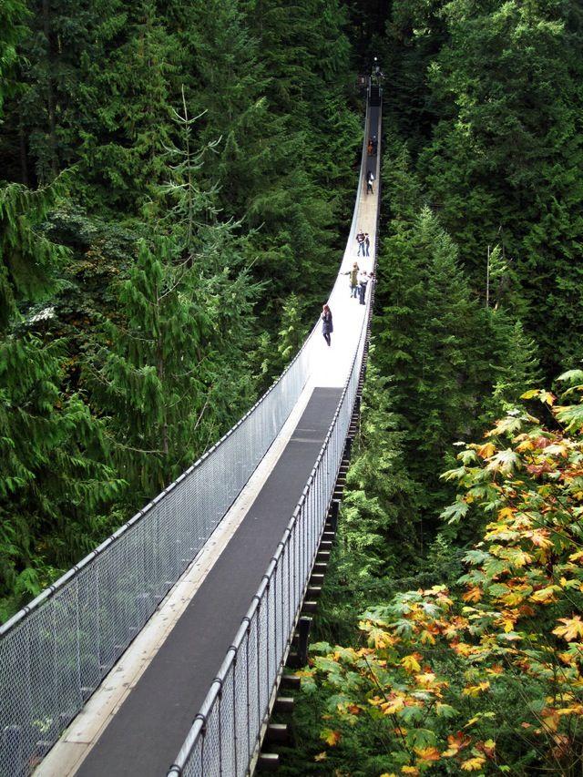 Подвесной мост Капилано (Capilano Suspension Bridge), Ванкувер, Британская Колумбия, Канада