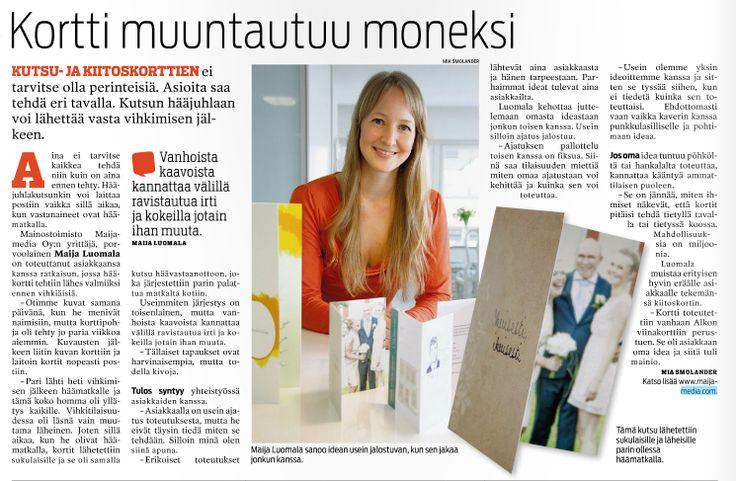 An article about #Maijamedia in a newspaper Itäväylä.
