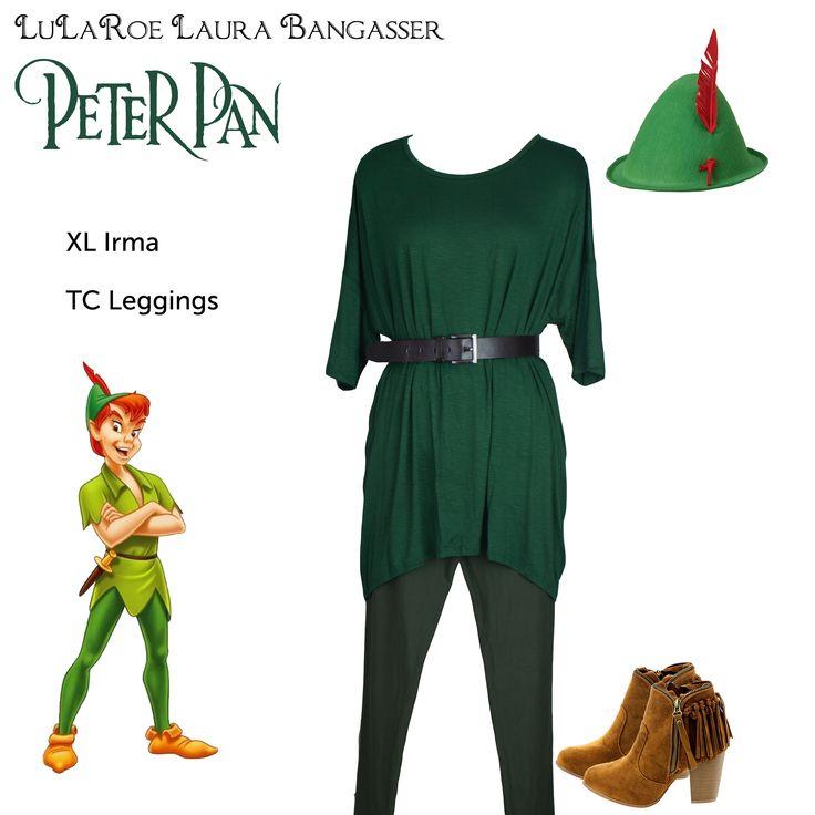 """LuLaRoe DisneyBounding Peter Pan"" Neverland inspired Halloween costume by LuLaRoeLauraBangasser. All non LuLaRoe accessories were found on Amazon."