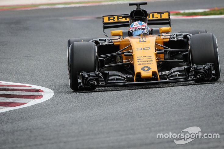 Jolyon Palmer, Renault Sport F1 Team RS17, Day 2, Barcelona pre-season testing