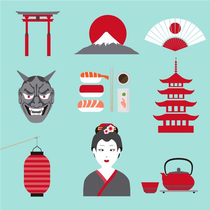 nice דף מדבקות אלמנטים יפנים
