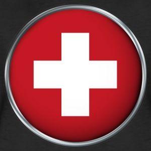 Schweiz Flagge 3D - Frauen Premium T-Shirt