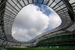 O Estádio Aviva foi o palco da final da Liga Europa 2011 entre o F.C. do Porto e o S.C. de Braga.