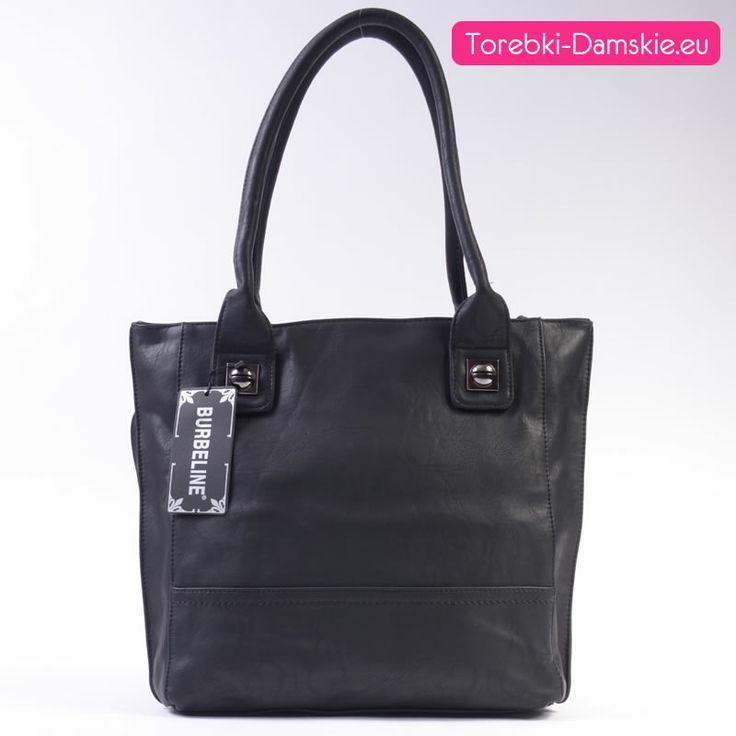 Tego typu torebki cieszą się dużą popularnością: bardzo elegancka i równocześnie praktyczna dzięki swym sporym rozmiarom damska torba do noszenia w ręku lub na ramieniu z dwoma osobnymi zamykanymi komorami. Mieści format A4. Wymiary: szerokość 38 cm, wysokość 33 cm. #torebki #moda