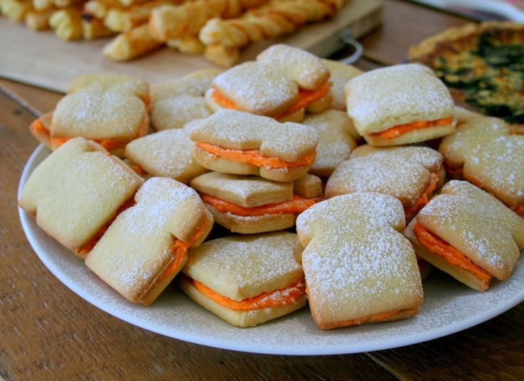 Sugar cookies sandwiched together with butter icing, inspired by Paddington Bear's favourite snack.