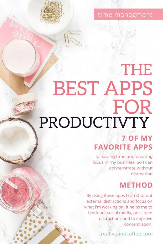 Some of the best productivity apps for bloggers to save you time and to help stop you getting distracted whilst working on building your empire. via @creativencoffee
