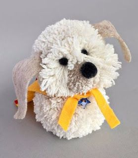Tina's handicraft : instructions on how to do a dog with pom-pom