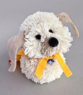 Tina's handicraft : instructions on how to do a dog with pom-pom
