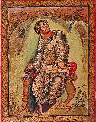 Marcus ~ Uit het Evangelarium van aartsbisschop Ebbo van Reims ~ 816-835 ~ Gemeentebibliotheek, Epernay