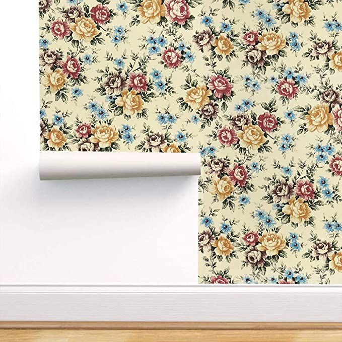 Floral Wallpaper Nursery Floral Peel And Stick Wallpaper 17 7 X118 Removable Wallpaper Vinyl Waterp Floral Wallpaper Nursery Floral Wallpaper Nursery Wallpaper