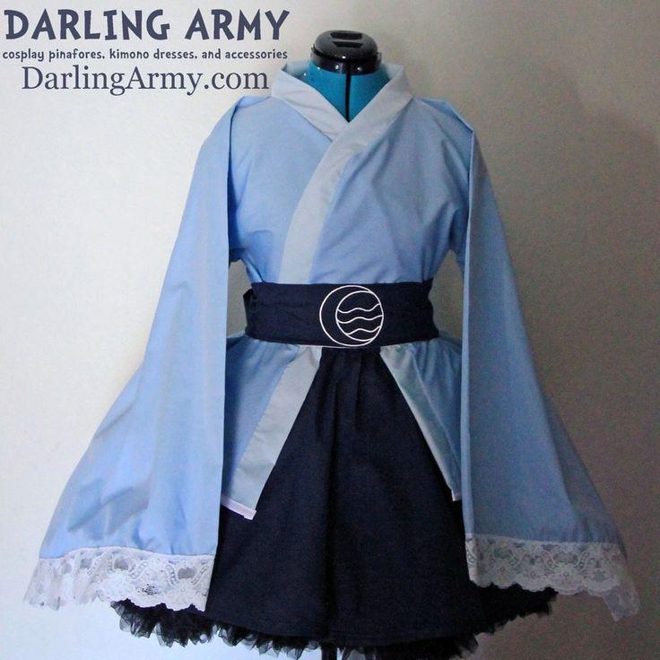 Avatar Water Tribe Katara Korra Cosplay Kimono Dress Wa Lolita Skirt Accessory | Darling Army