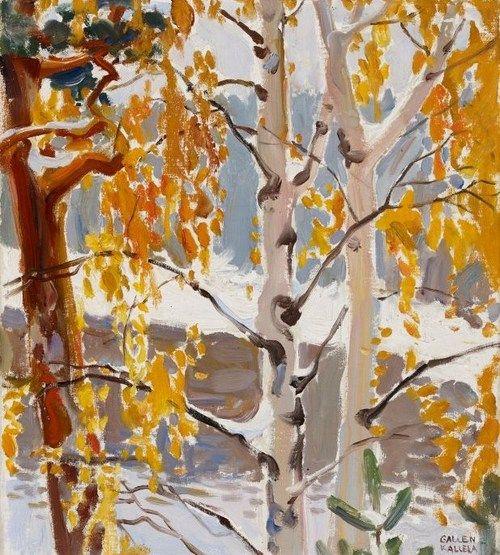 Akseli Gallen-Kallela (1865-1931) - The first Snow